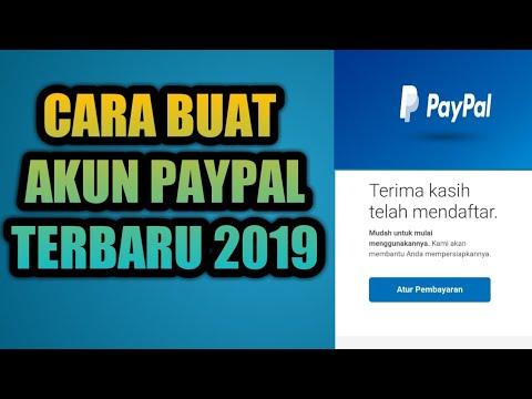 CARA BUAT AKUN PAYPAL TERBARU 2019