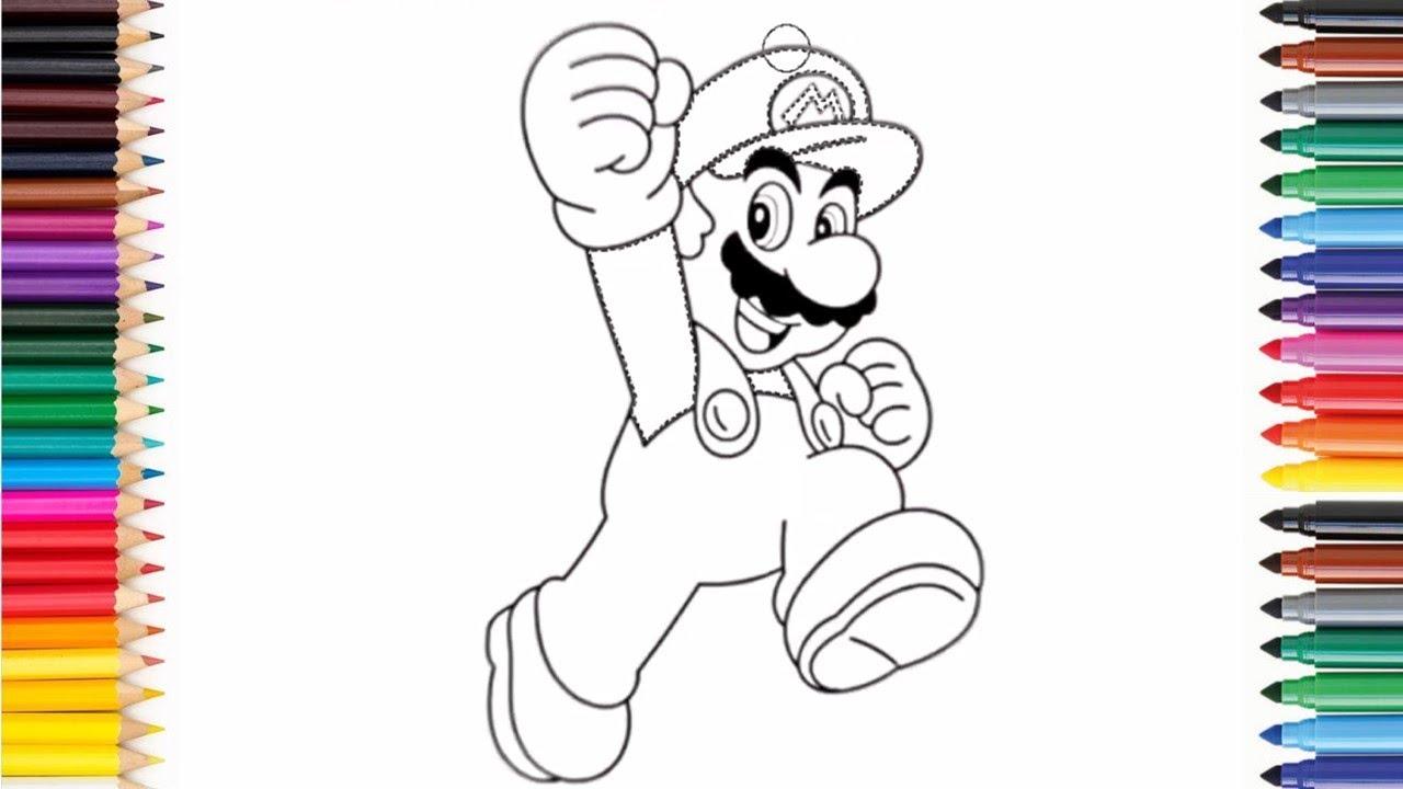 Super Mario zeichnen und ausmalen  Zeichnen für Kinder  Drawing Super  Mario