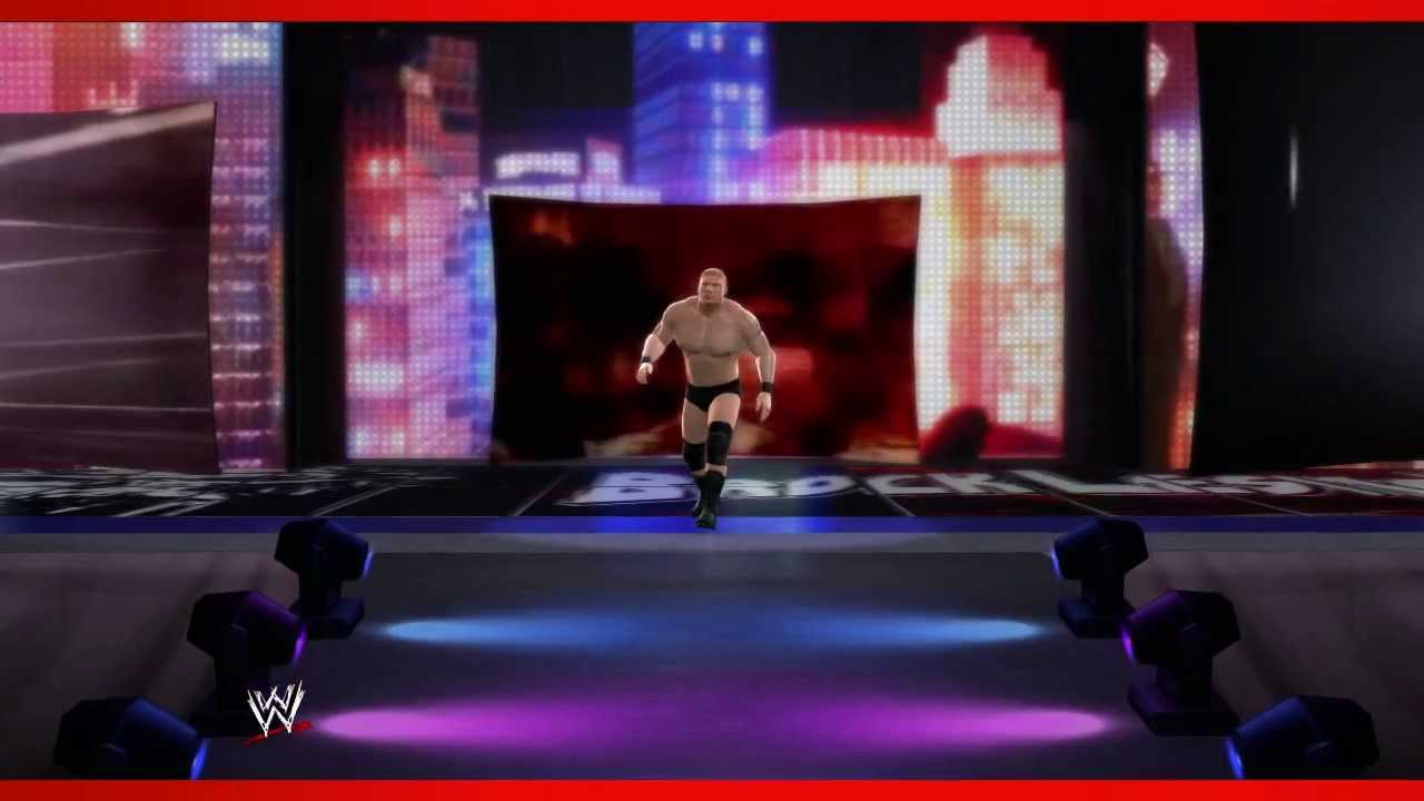 brock lesnar retro wwe 2k14 entrance and finisher