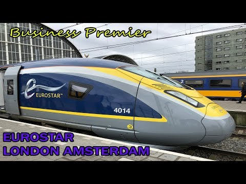 Inaugural DIRECT EUROSTAR train from London to Amsterdam in