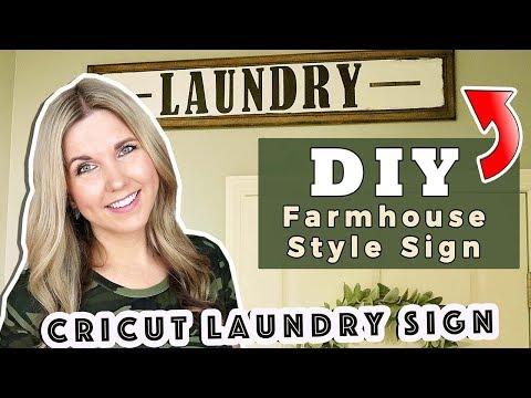 DIY Farmhouse Style Sign using my Cricut ⚫ DIY Wall Decor wood sign