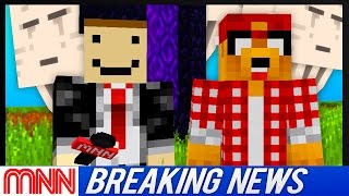 Minecraft News Network: 100s Of Ghasts Swarm Village