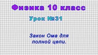 Физика 10 класс (Урок№31 - Закон Ома для полной цепи.)