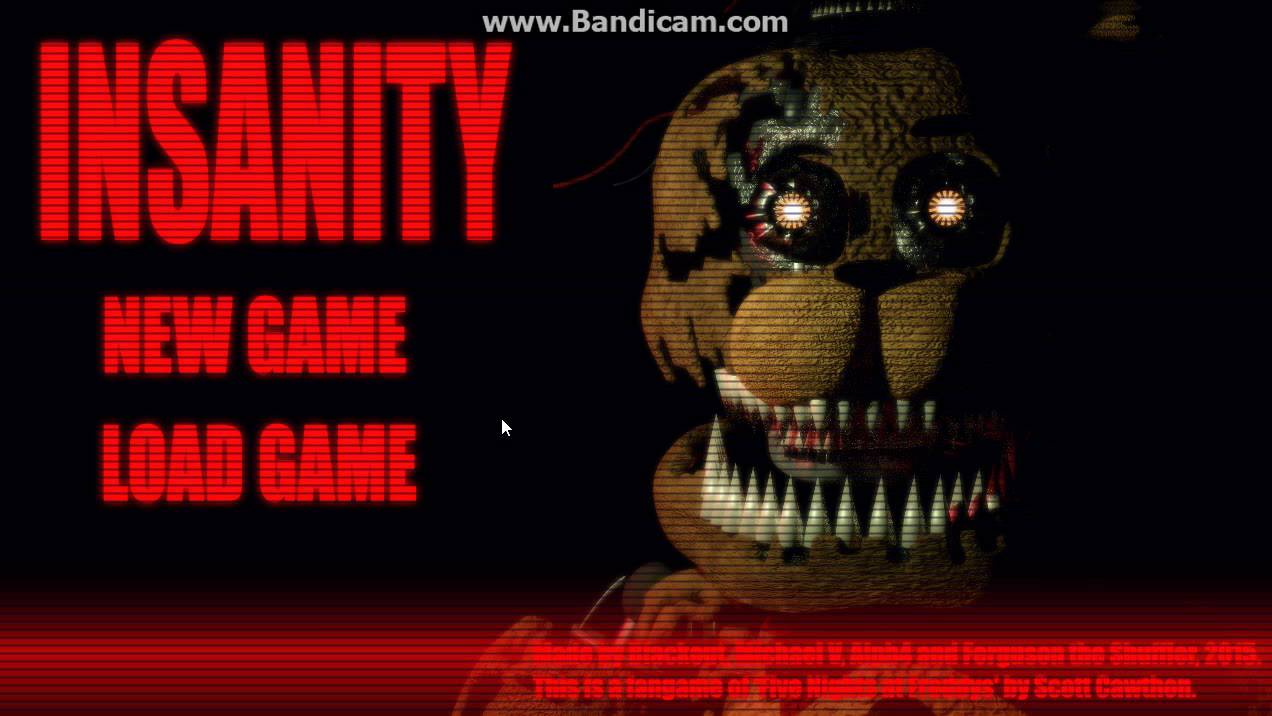 Fnaf fan game insanity part 1 shadow springtrap easter egg