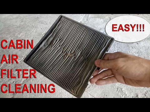 Cabin Filter Location And DIY Cleaning On A Kia Picanto