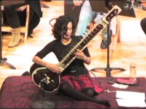 Anoushka Shankar rehearses at The Asia Society New York