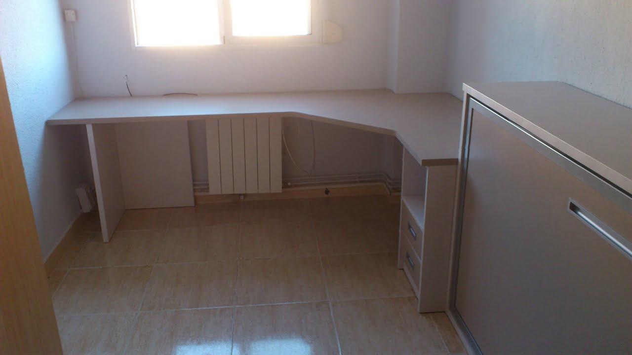 Proyecto dormitorio con imagenes mueble cama abatible - Cama mueble abatible ...