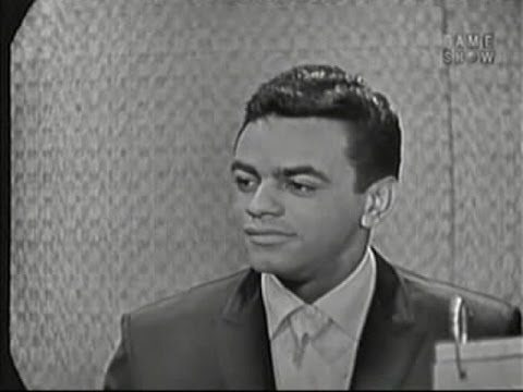 What's My Line? - Johnny Mathis; Martin Gabel [panel]; Richard Boone [panel] (Feb 22, 1959)