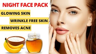 Overnight Skin Whitening Glowing Face Mask Natural Face Mask for Fair Skin