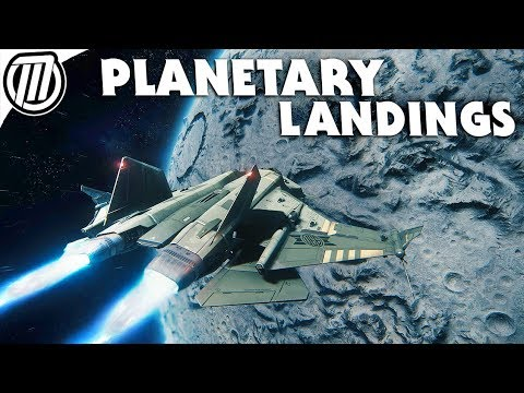 Star Citizen 3.0 Landing on a Planet! - Space to Ground Gameplay