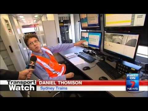Seven News Sydney - Inside Sydney Trains Track Inspection Vehicle (19/3/2014)