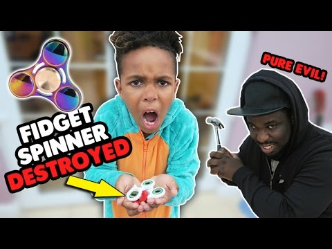 Thumbnail: EVIL Dad Destroyed My Fidget Spinner! | A Typical Sunday Vlog!!