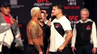 UFC Brisbane Weigh-ins: Mark Hunt vs Frank Mir
