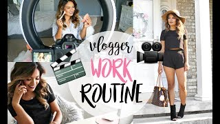 WORK/MORNING ROUTINE AS A YOUTUBER | BELINDA SELENE