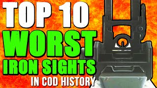"""WORST IRON SIGHTS"" In Cod History (Top 10 - Top Ten) ""Call of Duty"""