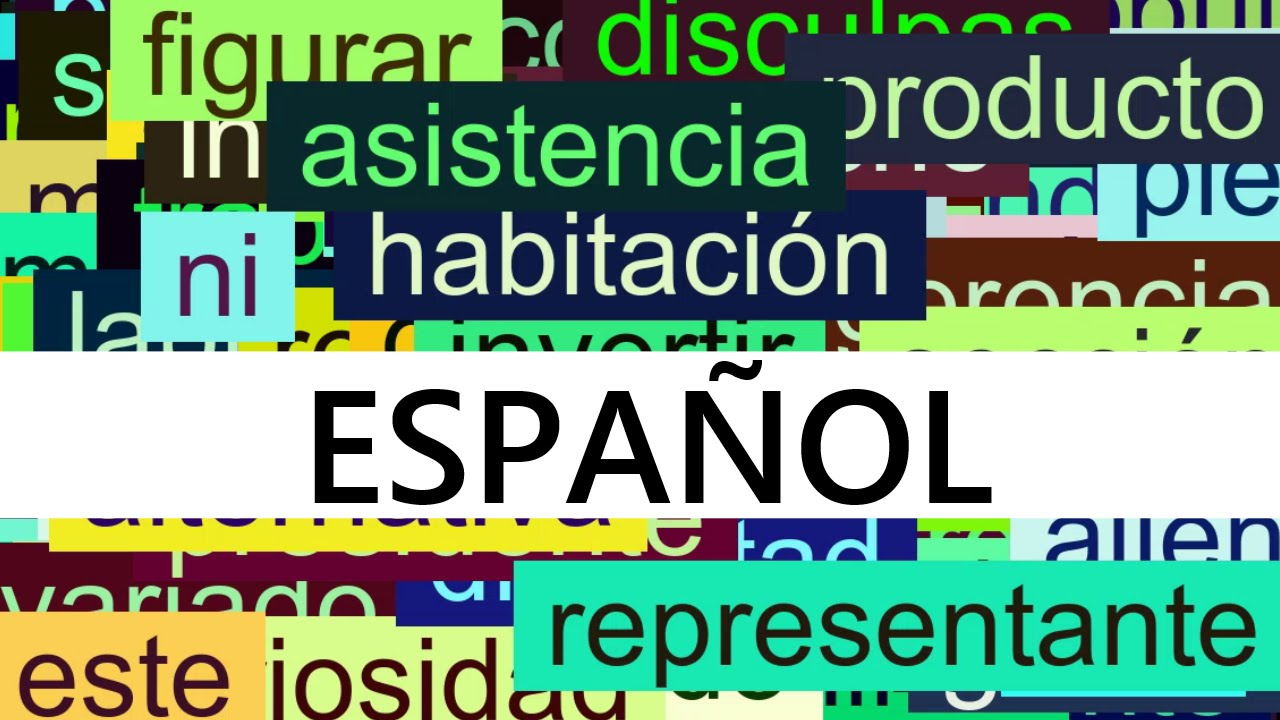 3000+ Common Spanish Words with Pronunciation - YouTube