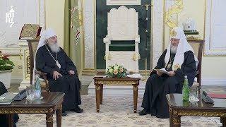 Предстоятель Русской Православной Церкви встретился со Святейшим Патриархом Сербским Иринеем