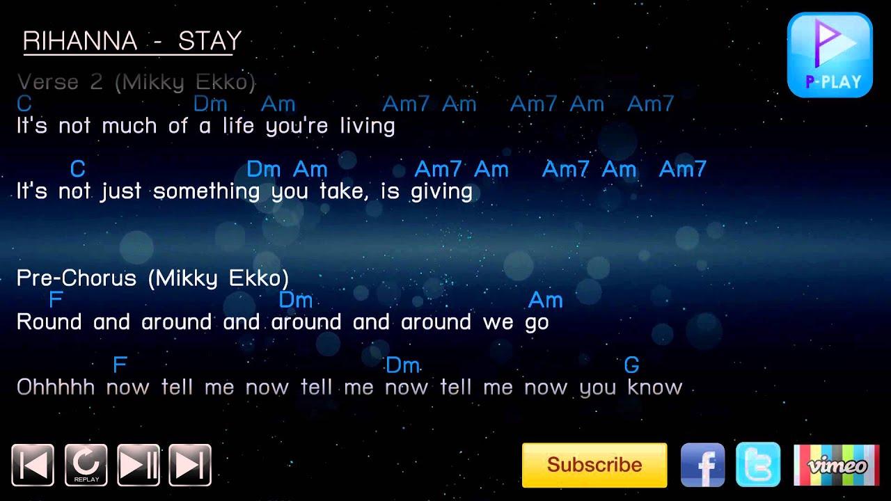 Rihanna stay chord lyrics youtube rihanna stay chord lyrics hexwebz Image collections