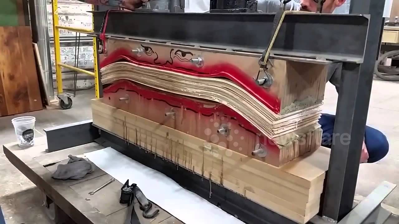 Glue Squeeze Out From A Skateboard Press At Baltimore S