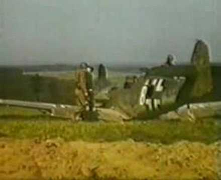 TWO CRASHED ME-109s IN FRANCE 1944/45 WW 2.