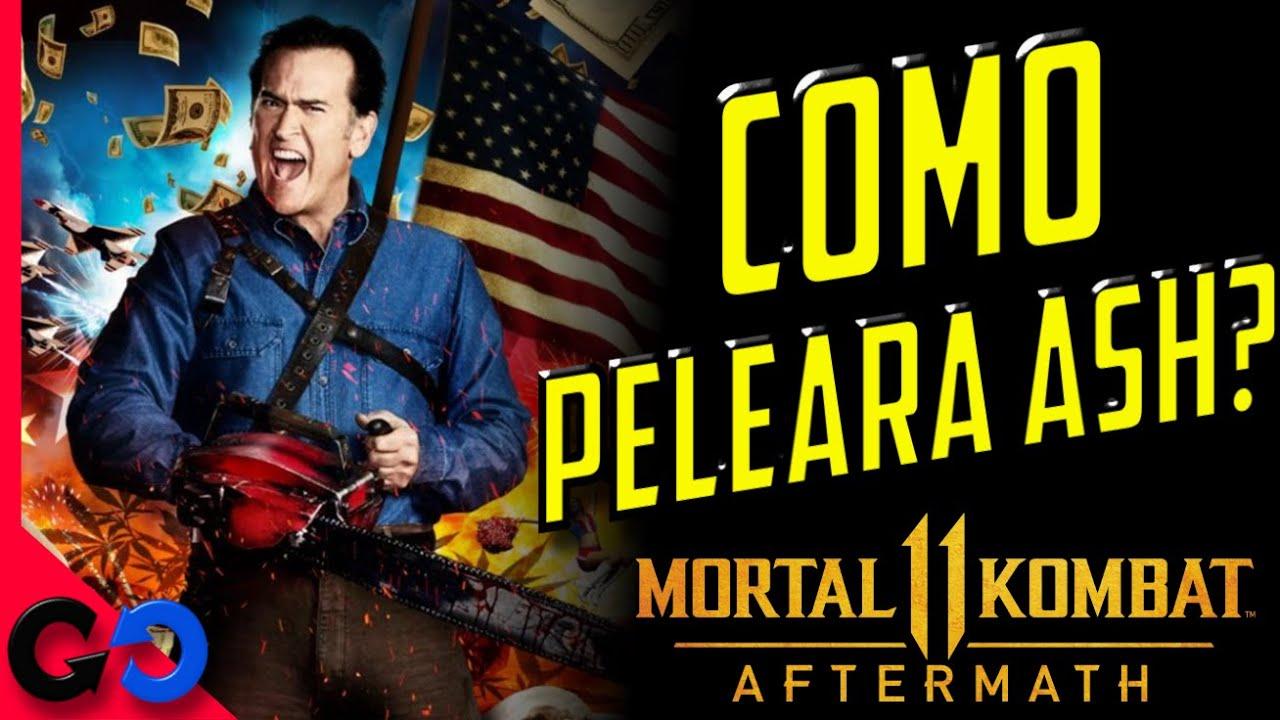 Mortal Kombat 11 Como Peleara ASH WILLIAMS? // Variaciones, FB, Referencias?