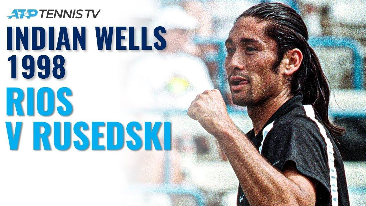 Classic Tennis Highlights: Marcelo Rios v Greg Rusedski   Indian Wells 1998 Final