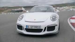 Neu! Porsche 911 GT3 im Grenzbereich auf der Rennstrecke.