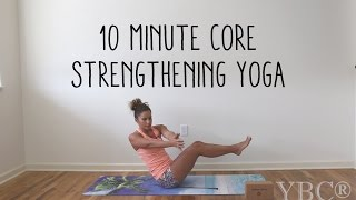 10 Minute Core Strengthening Yoga