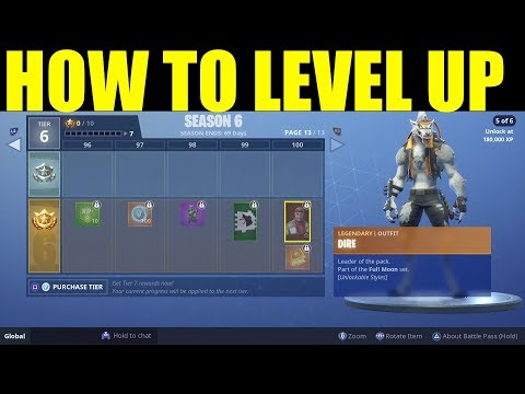 How to Level Up Season 6 Battle Pass FAST! How To get Xp On