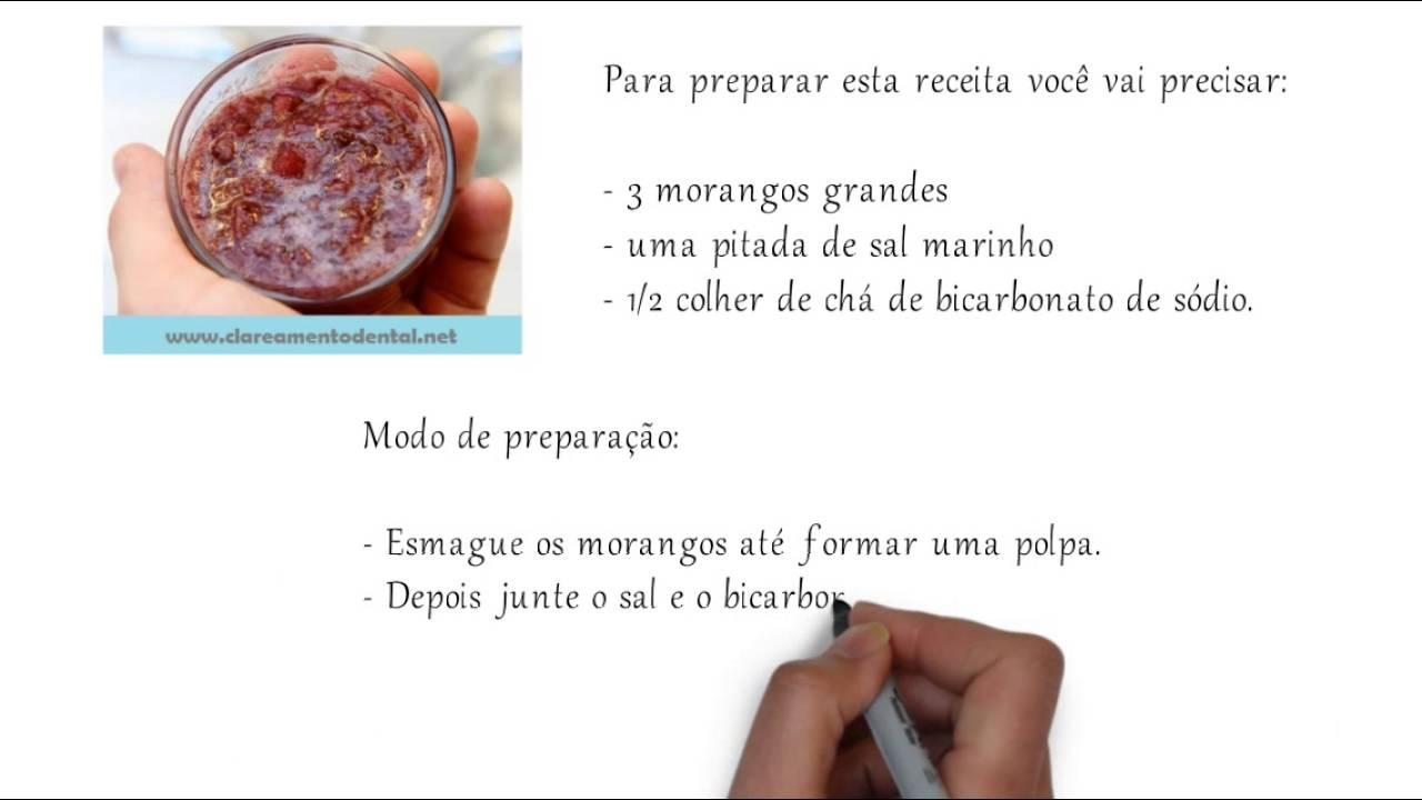 Receita Caseira Para Clarear Os Dentes Com Morangos E Bicarbonato