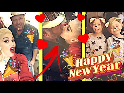 Gwen Stefani on New Year's Eve with Blake Shelton, family & friends 📣😍👏 Mp3