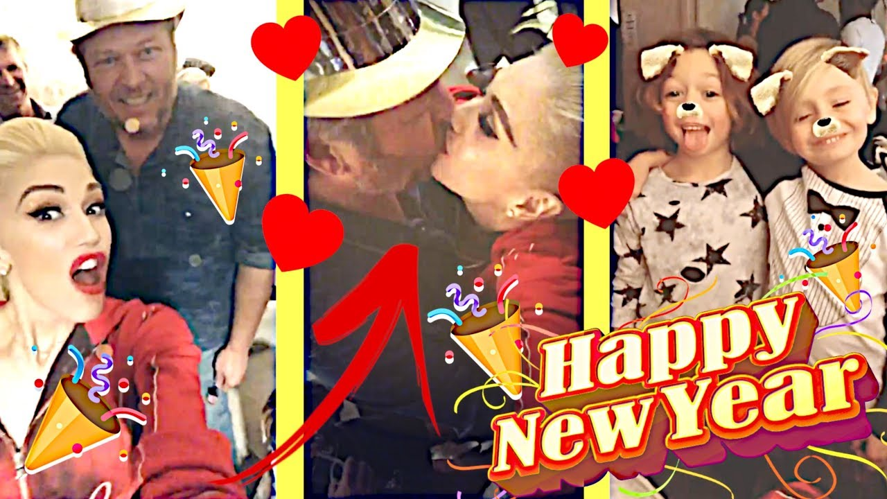 Gwen Stefani on New Year's Eve with Blake Shelton, family & friends 📣😍👏