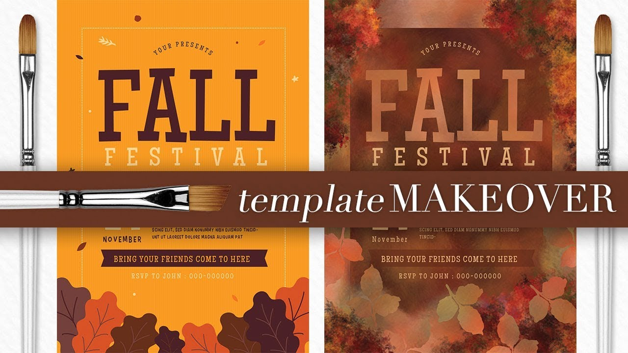 template makeover fall flyer design youtube
