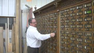 Hidden Compartment Behind A Card Catalog At Yale University