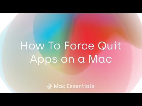 How To Force Quit Apps on a Mac