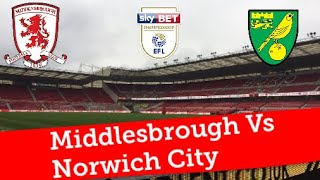 Middlesbrough Vs Norwich City |EFL Championship