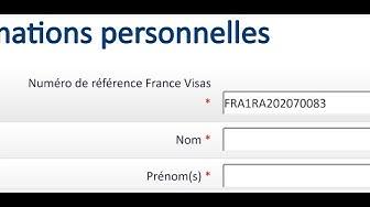 rendez vous visa France Numéro de référence France Visas