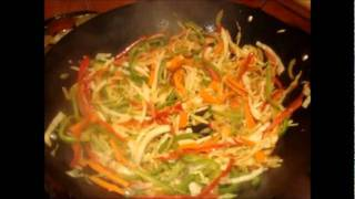 Vegetarian Noodles (green & Red Peppers, Carrots, Cabbage)