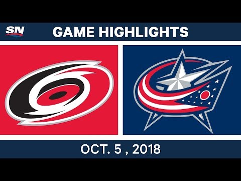 NHL Highlights | Hurricanes vs. Blue Jackets - Oct. 5, 2018