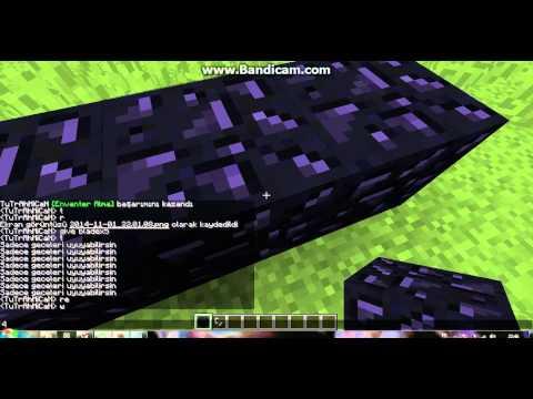 Minecraftta Cehenneme Gitmek 100%çalışıyor