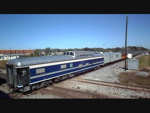 Amtrak Silver Star Special GE Dash 8 Locomotive And Private Cars