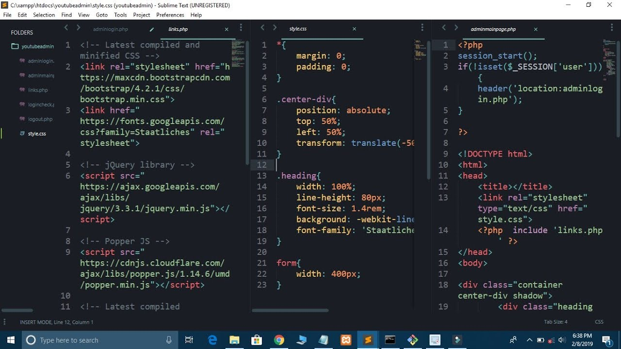 Working on Multiple Tabs in Sublime Text Editor Like CodePen   Sublime  Split Screen Feature
