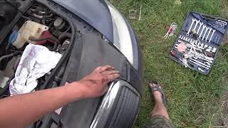 Как снять бампер Audi A6 C6. Наглядное видео.