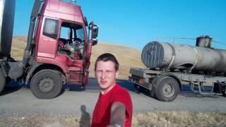 Дорога в Ош. Река Нарын. Кузовной автостоп. Кыргызстан.