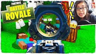 CHALLENGE FORTNITE in MINECRAFT. The real PLAYER PRO (reacting to) School of monsters
