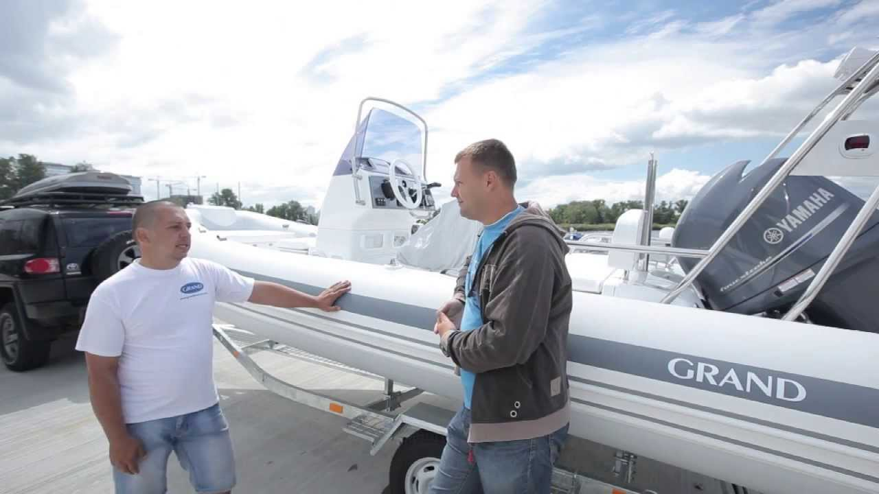Надувная лодка с жестким дном GRAND Silver Line S550LF (Yamaha F150)