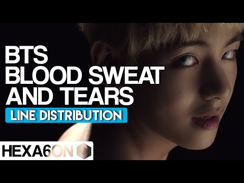 BTS - Blood Sweat & Tears Line Distribution (Color Coded) *CORRECTED*