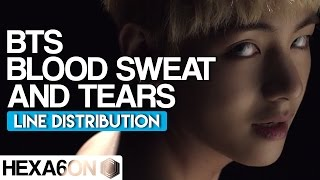 Baixar BTS - Blood Sweat & Tears Line Distribution (Color Coded) *CORRECTED*