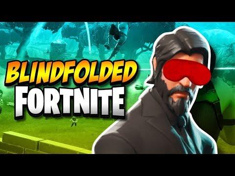 FORTNITE BLINDFOLDED CHALLENGE | Fortnite: Battle Royale!