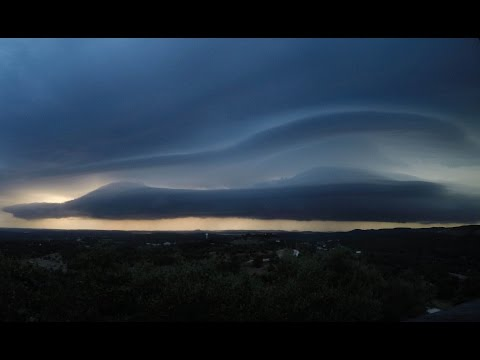Gorgeous Morning Shelf/Roll Cloud Time Lapse (August 15, 2015)